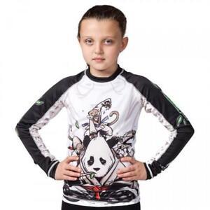 Tatami Gentle Panda Kids BJJ Rash Guard MMA Childrens Jiu Jitsu Compression Top