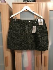 BNWT Primark Zebra Denim Skirt Size 18