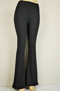 S-XL Women's Flared Leg Stretch Pants Bell Bottoms Mid Rise Lounge Yoga Solids