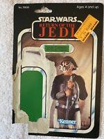 Star Wars Vintage Original Lando Calrissian Skiff Guard Disguse Card Back Only