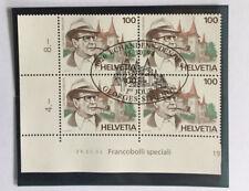 4 timbres suisses YT CH1463 se tenant FDC daté, Zum CH 871