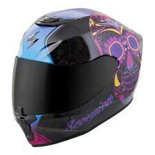 Scorpion EXO-R420 Full-Face Solid Helmet Black/Pink Sugar Skull Extra Small