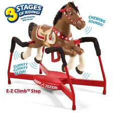 Interactive Spring Horse Rocking Ride-On with Sound Realistic Fun Safe Toy Gift