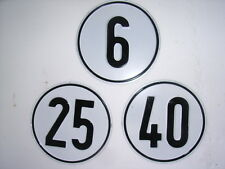 Traktor Anhänger Blechschild 6 km/h 25 km/h 40 km/h