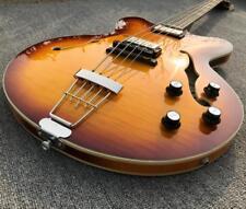 High Quality Hofner Electric Bass Guitar Ebony Fingerboard Abalone Korean Parts