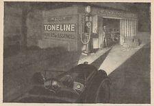 Y8923 Huiles TONELINE - Pubblicità d'epoca - 1929 Old advertising