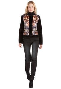 Custo Barcelona Perfecta Tiger Jacket Faux Fur Coat Black Fall/Winter 38/S, 40/M
