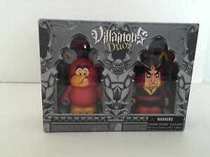 "vinylmation villainous duos set 3"" iago and jafar from aladdin new sealed box"