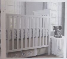 Wendy Bellissimo Little Safari Gray Zebra Baby Boy Crib Bedding 3-Piece Set NEW