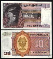 BURMA 10 KYAT P58 1973 *AY* REPLACEMENT ORNAMENT UNC MYANMAR MONEY BILL BANKNOTE