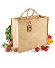 Large eco friendly shopping bag reusable Jute Hessian Quailty Short Handles