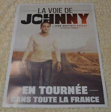 AFFICHE Jean Baptiste Guégan 50 x 70 hommage Johnny Hallyday 2019 ZAZA2CATS