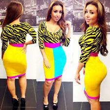 V-Neck Casual Striped Regular Size Dresses for Women