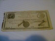 Caisse d'échange de monnaie 20 francs Rouan an 10