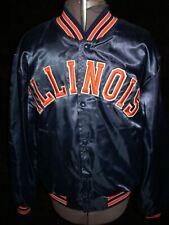 Vtg 8O 90S Mens Large Fighting Illinois Nylon Swingster Starter Jacket