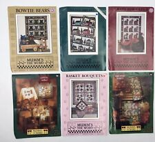 Mumm's The Word Lot of 6 Quilt Patterns Quilting Sewing Assorted Designs $40