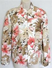 ALFRED DUNNER Coral Brown Jacquard Zipper Jacket 16P NWT Womans (MSRP $60)