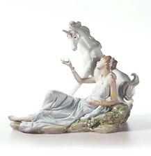 Retired Lladro Figurine #6007 The Goddess & The Unicorn, with base & box