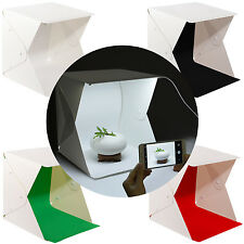 Mini Folding Portable Photo Studio LED Light Photography Tent Backdrop Cube Box