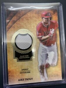 Mike Trout LA Angels Topps Tier 1 Relic Memorobilia Game Worn Numbered