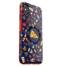 Disney Parks OTTERBOX PopSocket Case ✿ iPhone 10 X XS Mickey Pizza Macarons Food