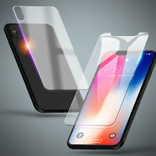 Panzerfolie für iPhone Vorder + Rückseite Schutzglas 9H Hartglas Echt Glas Klar