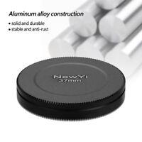 Aluminum Alloy Dustproof Threaded Camera Lens Filter Metal Protective Cap Cover