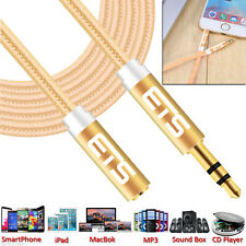 ®ETS 3M 3.5mm Jack Male To Female Extension AUX Audio Cable Mobile/iPad/MP3 GOLD