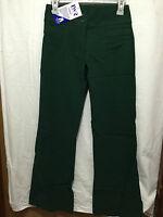 BNWT Girls Sz 14Y Bottle Green Stretch Bootleg LW Reid School Uniform Long Pants