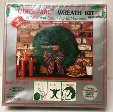 Nib Vintage Maxwell Quick-Mac White Christmas Wreath Kit Macrame # 11O7