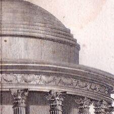 Gravure XVIIIe Temple Grec Rotonde Temple Circulaire Architecture Grèce Tholos