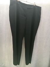 SMART BLACK GEORGE SHORT LENGTH TROUSERS 100% POLYESTER GOOD CONDITION SIZE 18