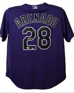 NOLAN ARENADO Signed Autographed Majestic Purple Jersey Fanatics/MLB Authentic