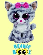 """Ty® 6"""" Kiki Beanie Boo's® Small Gray & White Cat - FROM OUR CAT & KITTEN STOCK"""