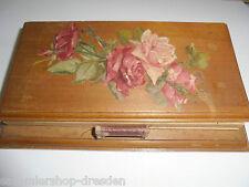 25486 Schreibblock Nußbaum Halter 1911 Handgemalt Rosen writing pad vintage