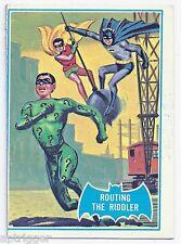 1966 Topps Batman Blue Bat with Bat Cowl Back (22B) Routing The Riddler