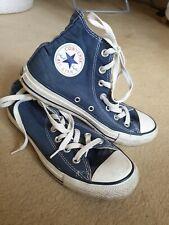 Converse size 5 high tops NAVY
