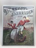 Dürkopp´S Bicicletas Son Allen Voraus Cartel Esmaltado Bicicleta 50x40 CM