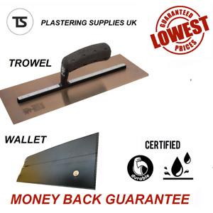 Nela Black Edition ELITE Premium Plasterers Finishing Trowel - With Wallet