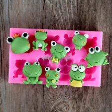 Food Grade Cute Frog Design Fondant Cake Decorating Tools Resin,Clay Crafts Mold