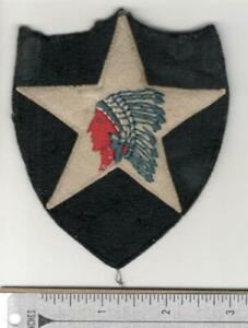 Applied Star Pre WW 2 US Army 2nd Infantry Division Wool Patch Inv# N127