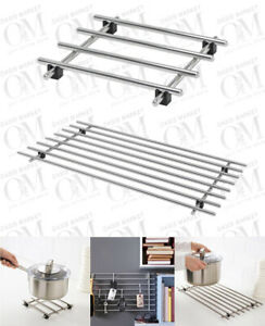 Stainless Steel Cooking Rack Trivet Pot Pan Stand Hot Dishes Table Protector