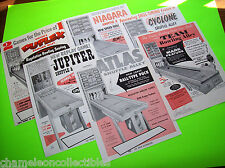 UNITED's 1958 SHUFFLE ALLEY ARCADE & BIG BALL BOWLING GAME ALLEY SALES FLYERS