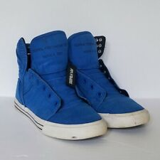 promo code 5dbef 3bf56 Supra Skytop Muska 001 High Top Skate Shoes Sneakers Blue White S19180 Mens  8