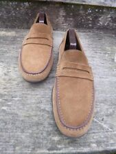 HARRY'S OF LONDON LOAFERS – BROWN / TAN KUDU SUEDE – UK 8.5 – EXCELLENT COND