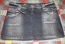 Minigonna di Jeans Nera, taglia XS