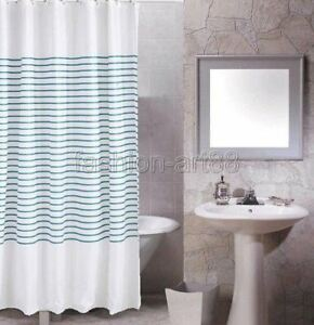 Green Single Stripe Picture Design Bathroom Fabric Shower Curtain Fs272