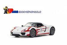 JAMARA 404582 - Porsche 918 Spyder Race 1:14 bianco 40 MHz