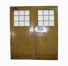 Oak Doors with Lead Glass Half Lights
