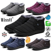 AU Winter Mens Warm Casual Fur Lined Snow Ski Ankle Boots High Top Trainer Shoes